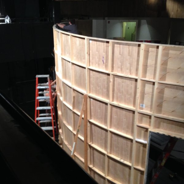 Back of curved walls (photo credit: Tom Minucci)