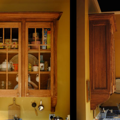 Front and side view of cabinet I constructed